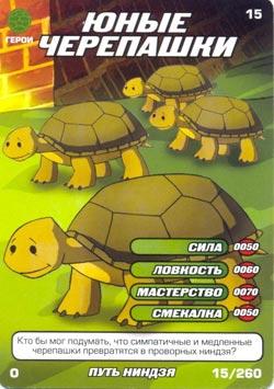 Черепашки ниндзя - Юные черепашки. Карточка№15