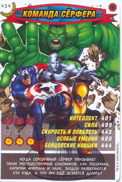 Человек паук Герои и злодеи - Команда Сёрфера. Карточка№454
